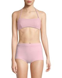 Solid & Striped - The Kate Haltered Bikini Top - Lyst