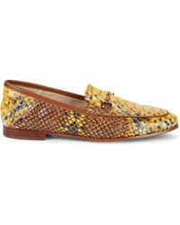 Sam Edelman Loraine Croc-embossed Leather Loafers - Yellow