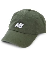 New Balance Embroidered Logo Cotton Baseball Cap - Green