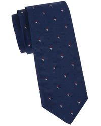 BOSS by Hugo Boss Men's Embroidered Tie - Blue