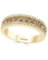 Effy | Final Call Diamond & 14k Yellow Gold Band Ring | Lyst
