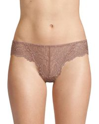 Samantha Chang - All Lace Thong - Lyst