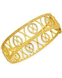 Freida Rothman Goldplated Sterling Silver & Cubic Zirconia Filigree Bracelet - Multicolour