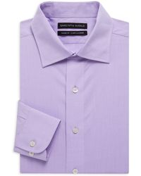Saks Fifth Avenue - Classic-fit Solid Dress Shirt - Lyst