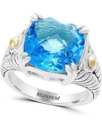 Effy - 18k Gold And Blue Topaz Ring - Lyst