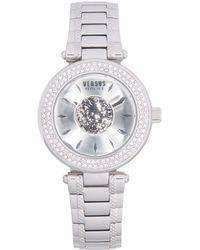 Versus Stainless Steel & Swarovski Crystal Bracelet Watch - Gray