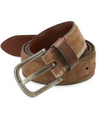 Saks Fifth Avenue Suede & Leather Belt - Brown