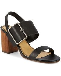 Splendid - Leather Slingback Sandals - Lyst