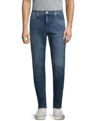 Hudson Jeans Men's Straight Skinny Jeans - Dark Ride - Size 33 - Blue