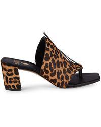 Sarto Nina Calf Hair Heeled Sandals - Multicolour