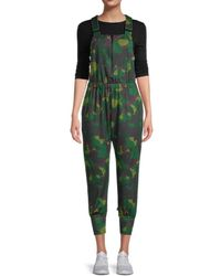 Details about  /Terez Zip Front Foil Printed Overall Women/'s Green Xl