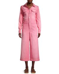 KENZO Cropped Wide-leg Jumpsuit - Pink