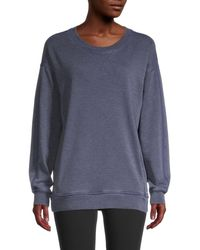 Marc New York Women's Drop-shoulder Sweatshirt - Midnight - Size M - Blue