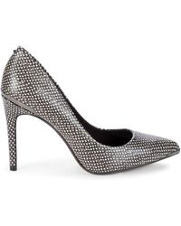 Ted Baker Snakeskin-embossed Leather Court Shoes - Black