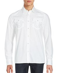 True Religion | Solid Button-up Shirt | Lyst