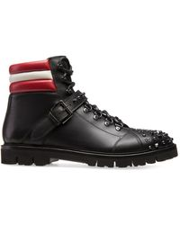 Bally Champions Studded Ankle Boots - Black