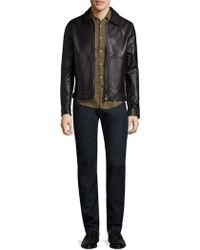 Officine Generale Clement Leather Jacket - Black