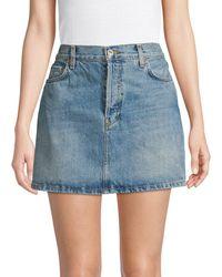 RE/DONE Women's Denim Mini Skirt - Indigo - Size 27 (4) - Blue