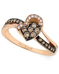 Le Vian - Vanilla & Chocolate 14k Strawberry Gold Ring - Lyst