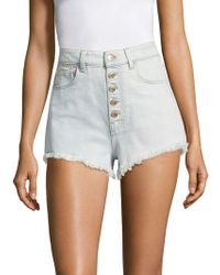 Tommy Hilfiger - Denim Fringe Shorts - Lyst