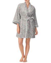 Kate Spade Multicolour Dot Short Robe - Grey