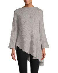 INHABIT - Bell-sleeve Sweater - Lyst