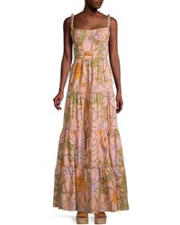 Johanna Ortiz Reflect Beauty Floral Tiered Maxi Dress - Multicolour