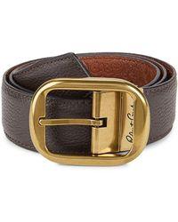 Robert Graham Men's Textured Leather Belt - Brown Cognac - Size 40