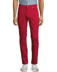 Robert Talbott - Solid Stretch-cotton Trousers - Lyst