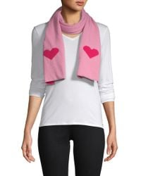 Portolano - Wool-blend Heart Scarf - Lyst