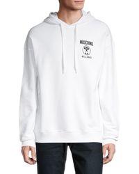 Moschino ! Logo Regular-fit Graphic Hoodie - White