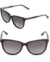 Bottega Veneta 55mm Cat Eye Sunglasses - Black