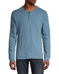 Vince Slub-knit Henley - Blue