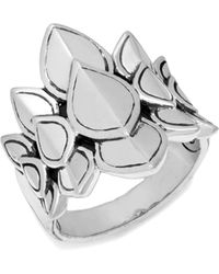 John Hardy Legends Naga Silver Saddle Ring - Metallic