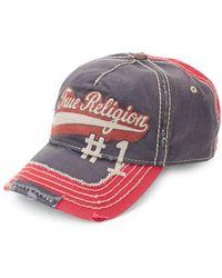 True Religion - Logo Script Baseball Cap - Lyst
