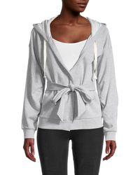 BCBGeneration Belted Hooded Jacket - Grey