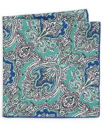 Luciano Barbera - Paisley Silk Pocket Square - Lyst