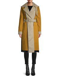Proenza Schouler Bonded Cotton Reversible Colorblock Trench Coat - Multicolour
