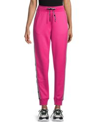 Karl Lagerfeld Logo-tape Sweatpants - Pink