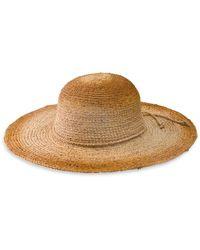 San Diego Hat Company Women's Raffia Sun Hat - Tea Stain - Brown