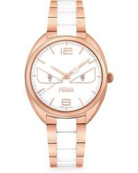 Fendi - Momento Bugs Rose Goldtone Stainless Steel Analog Watch - Lyst