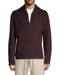 Saks Fifth Avenue Zip-front Hoodie - Grey