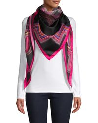 Missoni Geometric Silk Triangle Scarf - Pink