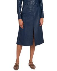 Stella McCartney Alisha Faux-leather Skirt - Blue