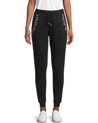 Hemant & Nandita Embellished Cotton Jogger Trousers - Black