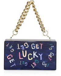 Edie Parker Get Lucky Jean Clutch - Blue