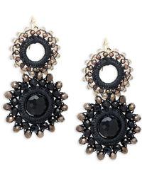 Panacea - Beaded Double Circle Drop Earrings - Lyst