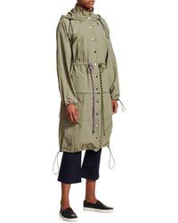Proenza Schouler Women's Drawstring Convertible Coat - Moss - Multicolor