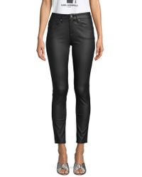 Karl Lagerfeld - Waxed Fashion Trousers - Lyst