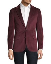 Robert Graham Men's Classic-fit Wilkes Illusion Houndstooth Single-breasted Jacket - Burgundy - Size 42 - Purple